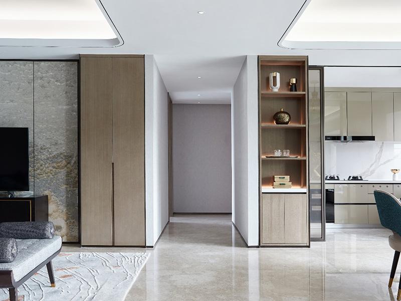 客厅与餐厅形成一个相互融合的大空间