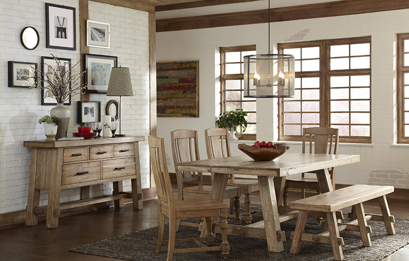 Picture frame idea for-American rustic style dining room
