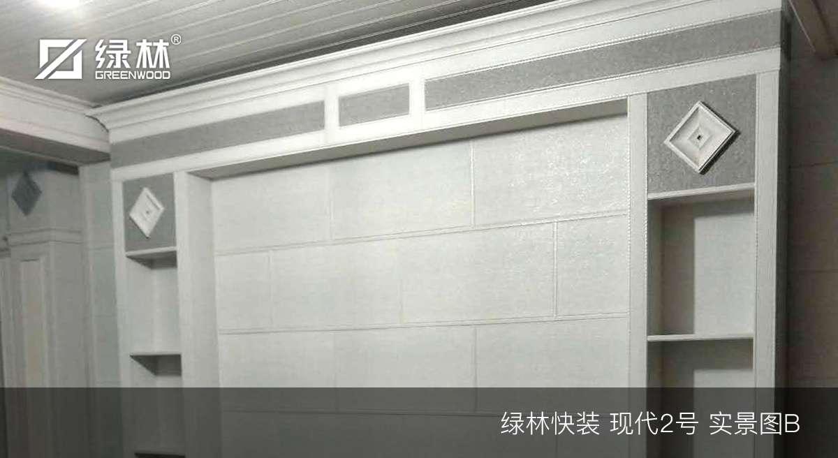 绿林快装现代2号背景墙实景图-2