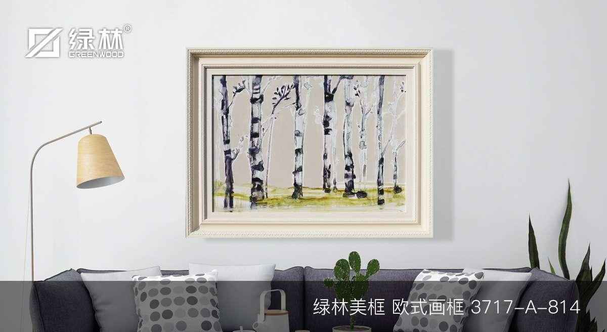 绿林PS画框线条3717-A-814应用于欧式画框的墙面装饰效果图