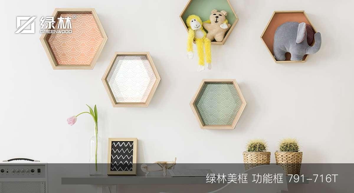 绿林PS框条791-716T应用于功能框作为墙面装饰的效果图