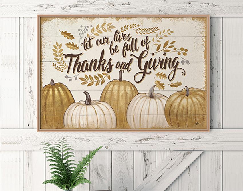感恩节内容主题的装饰画框