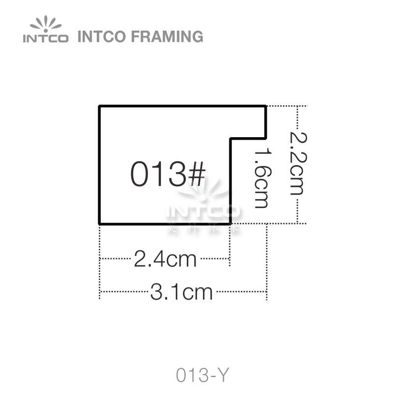 013 series PS picture frame moulding profile