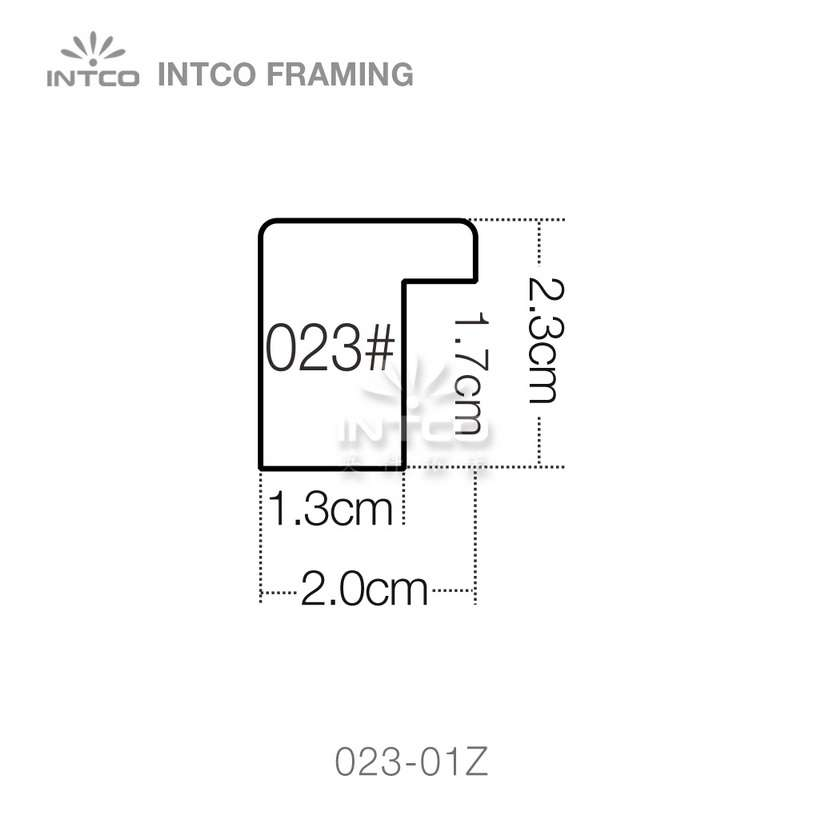 023 series PS art frame moulding profile