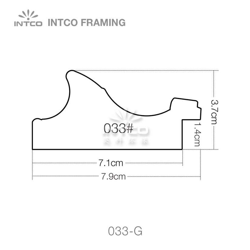 INTCO 033 series PS picture frame moulding profile