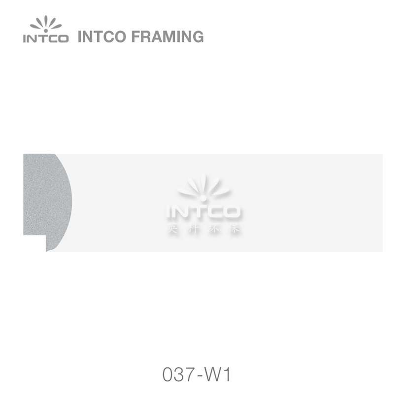 037-W1 polystyrene art frame moulding swatch sample