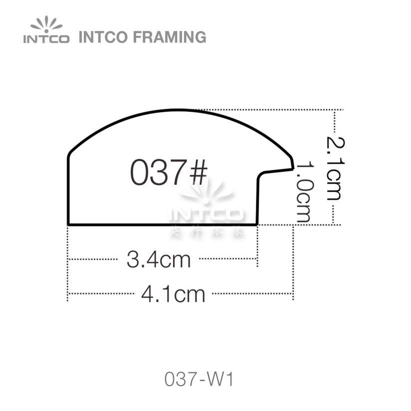 037 series PS art frame moulding profile