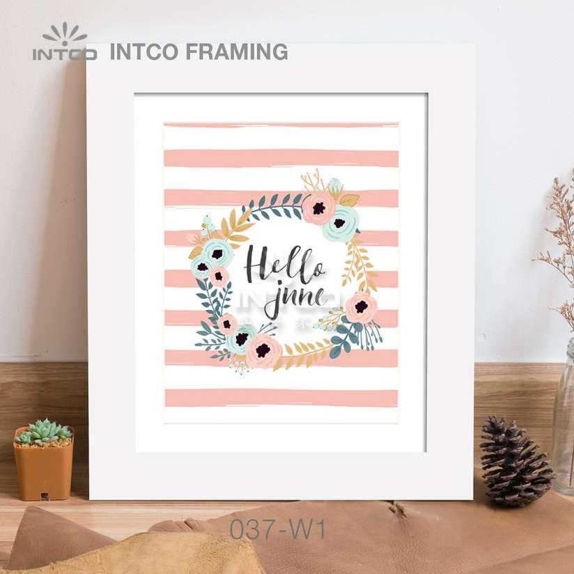 037-W1 PS art frame moulding idea