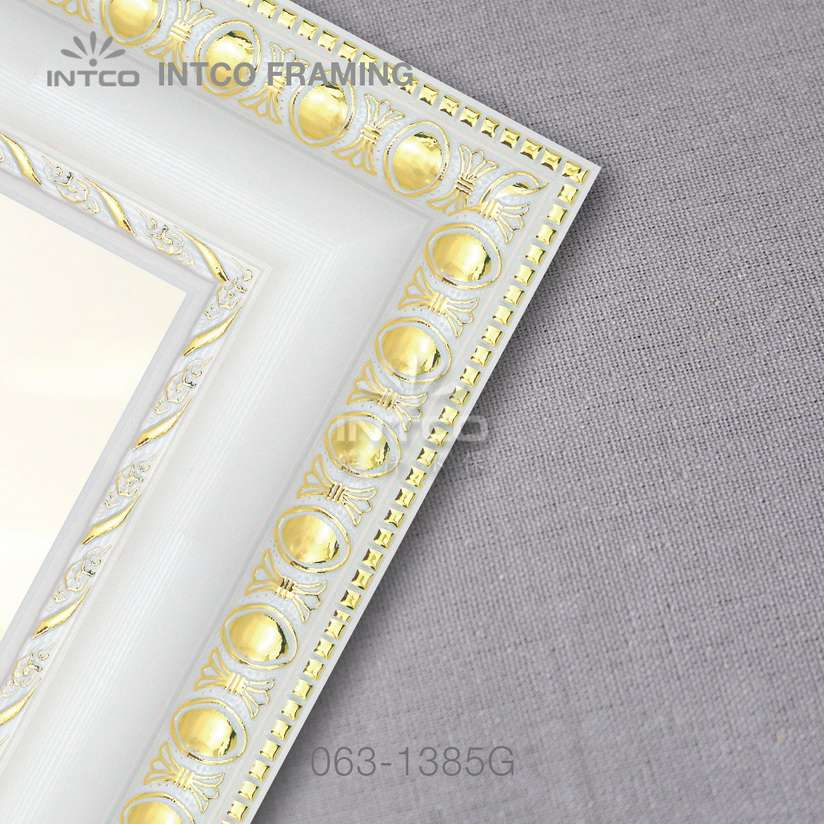 063-1385G PS custom picture frame white finish