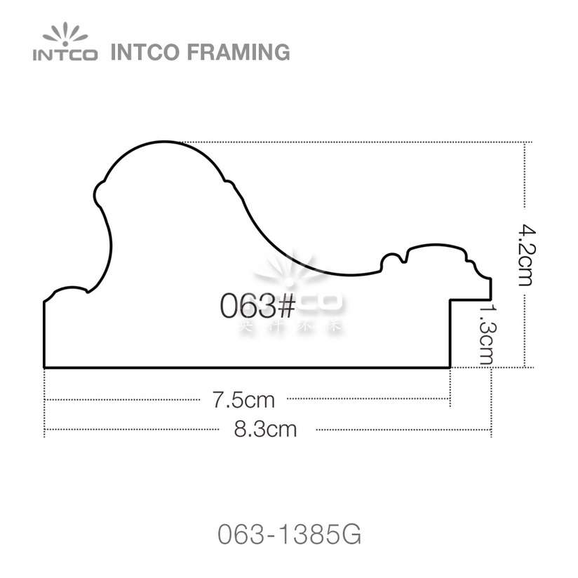 #063 3-1/4 Inch PS picture frame moulding profiles