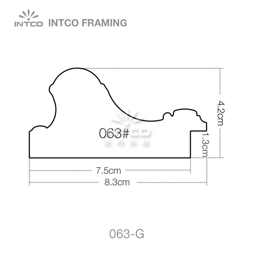 063 series PS picture frame moulding profile