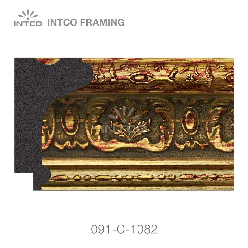 091-C-1082 PS picture frame moulding swatch sample