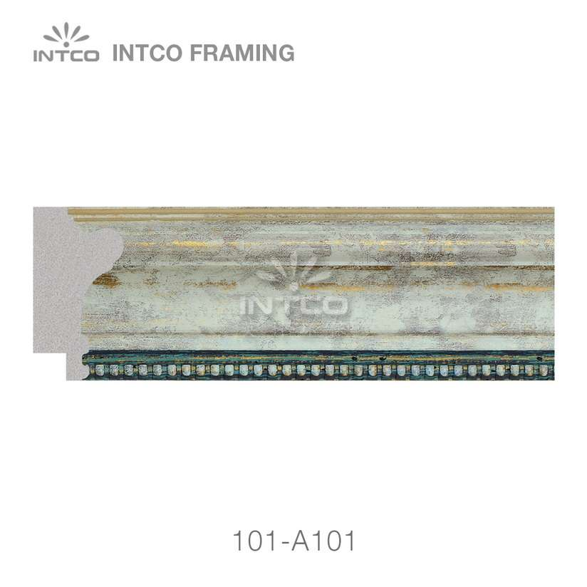 101-A101 polystyrene picture frame moulding swatch sample