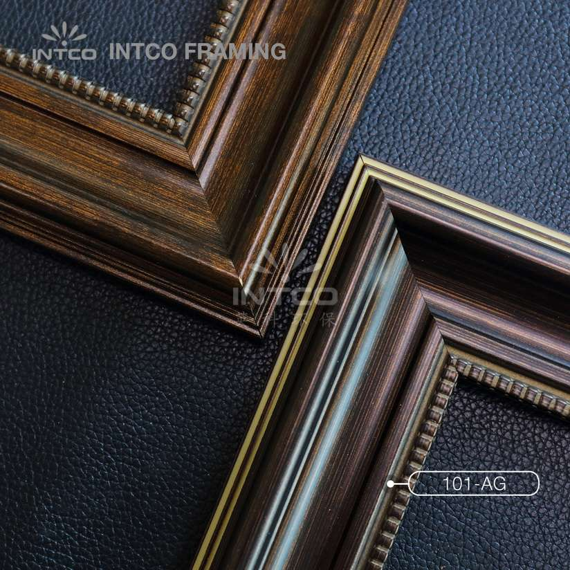 101-AG PS picture frame mouldings bronze finish