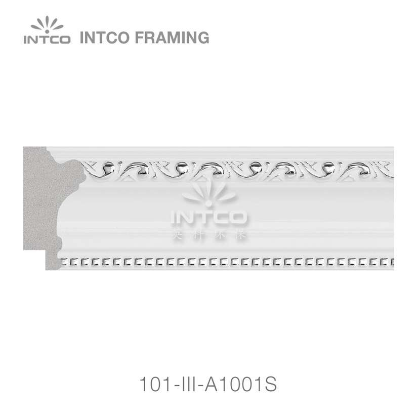101-III-A1001S polystyrene picture frame moulding swatch sample