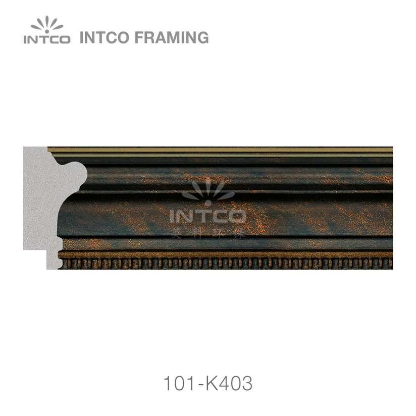 101-K403 polystyrene picture frame moulding swatch sample