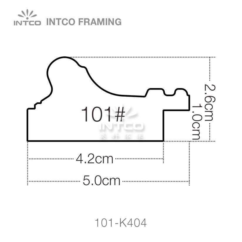 101 series PS picture frame moulding profile
