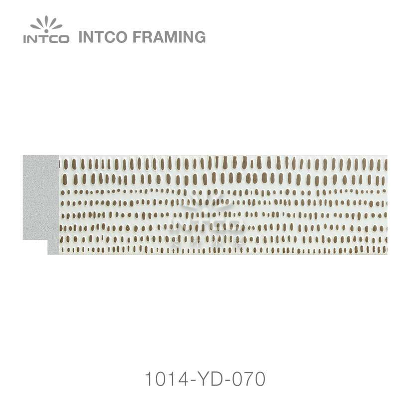 #1014-YD Modern White Finish Picture Frame Moulding