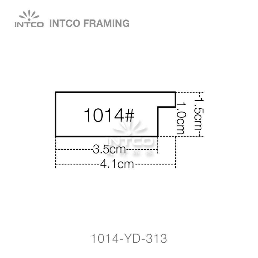 #1014-YD 1-5/8 inch picture frame moulding profiles