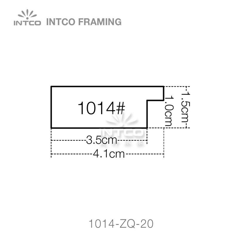 #1014 1-5/8 Inch PS photo frame moulding profiles