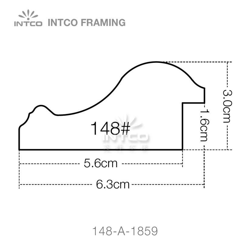 INTCO 148 series PS wedding photo frame moulding profile