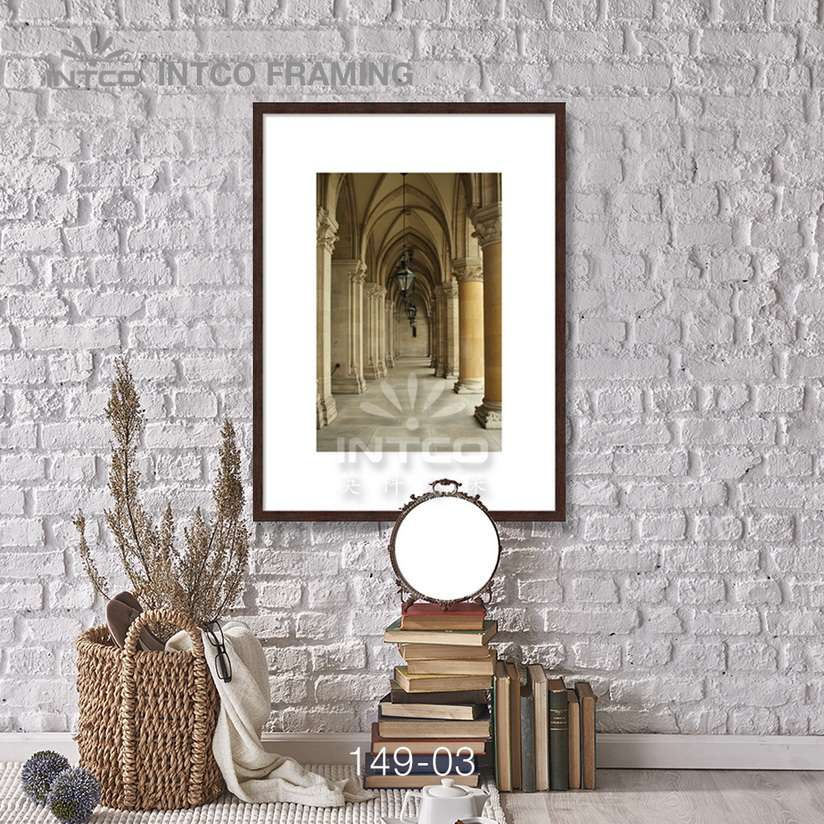 149-03 PS picture frame moulding idea for wall