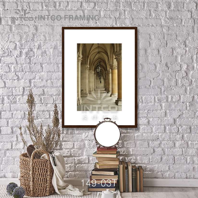 149-03T PS picture frame moulding idea for wall