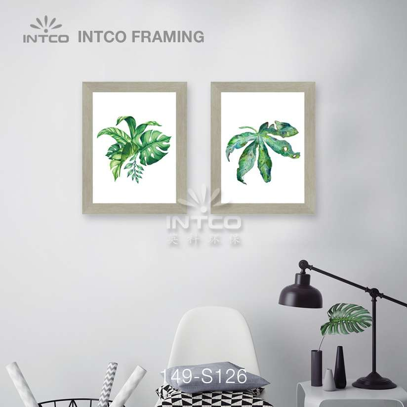 149-S126 PS picture frame moulding idea for wall