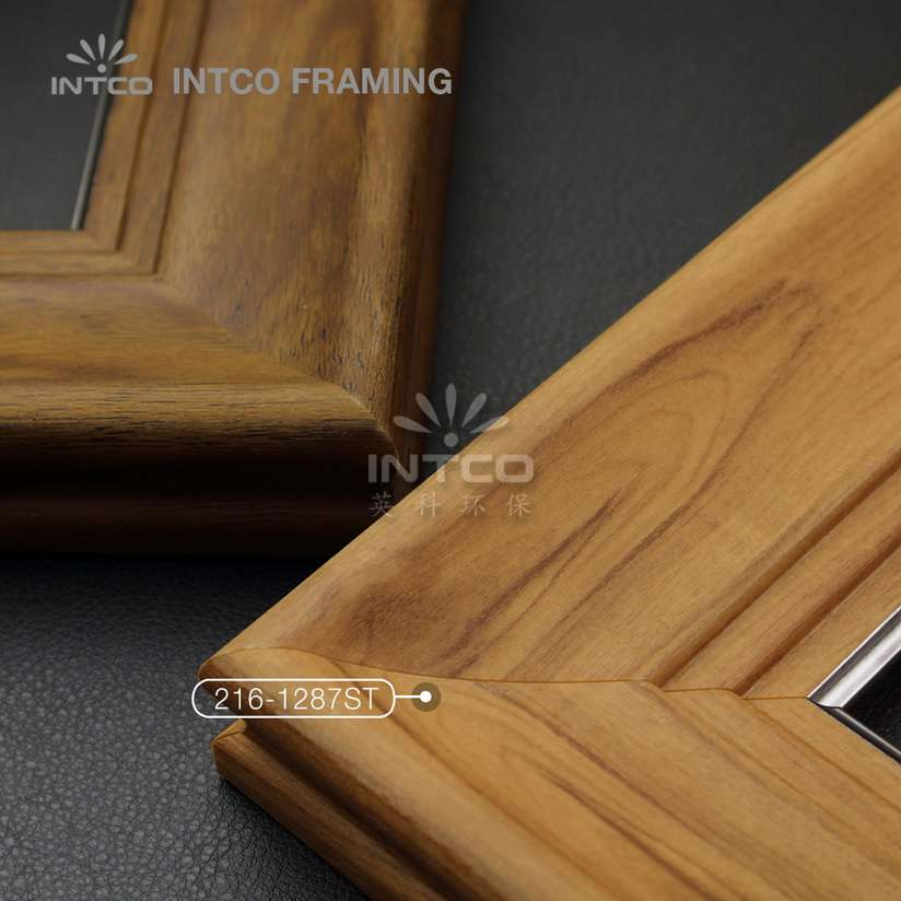 216 series PS wedding photo frame mouldings dark wood finish