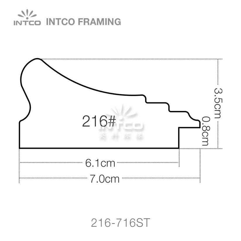 216 series PS wedding photo frame moulding profile