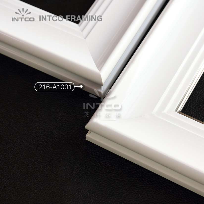 216 series PS picture frame mouldings white finish