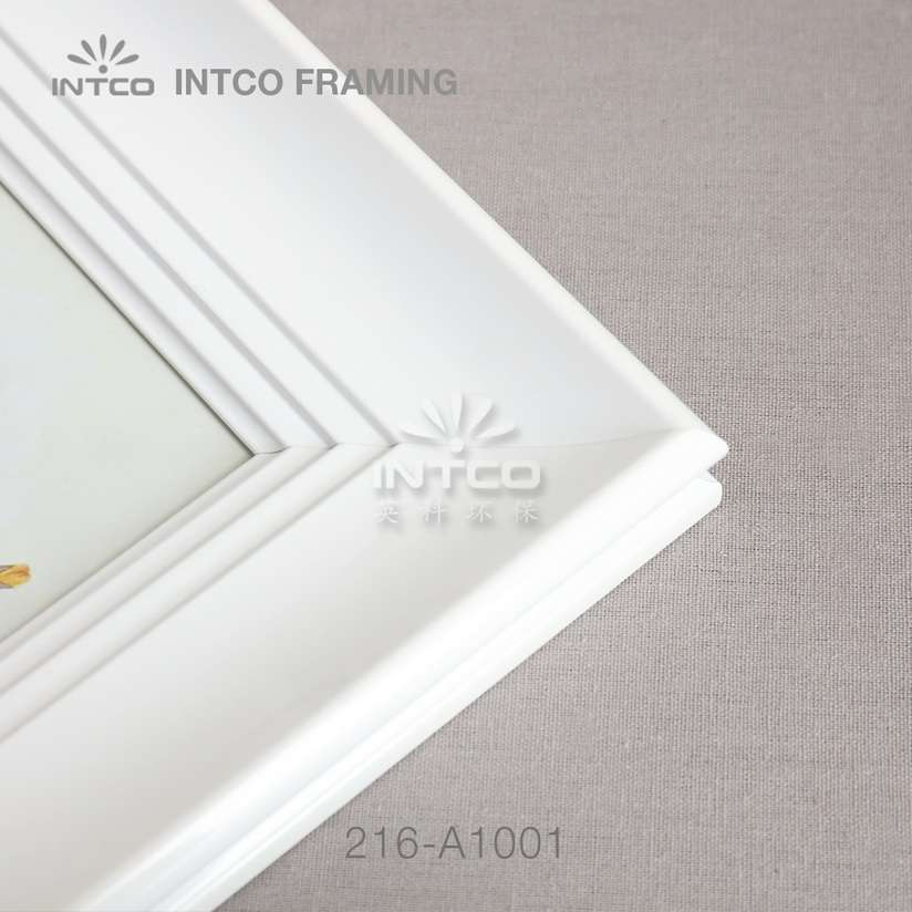216-A1001 picture frame moulding white finish