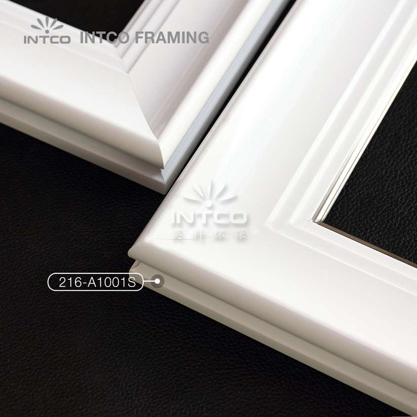 216 series PS wedding photo frame mouldings white finish