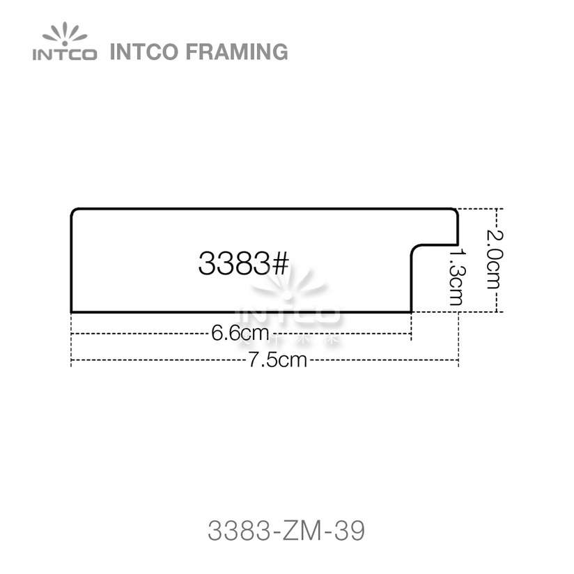 3383 series PS mirror frame moulding profile