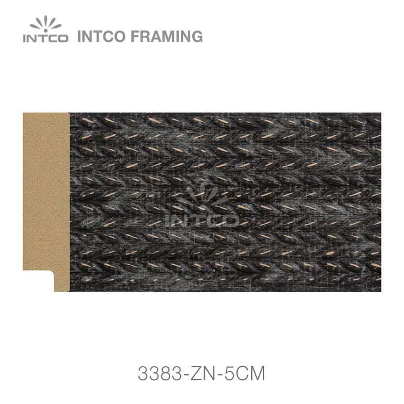 3383-ZN-5CM PS mirror frame moulding swatch sample