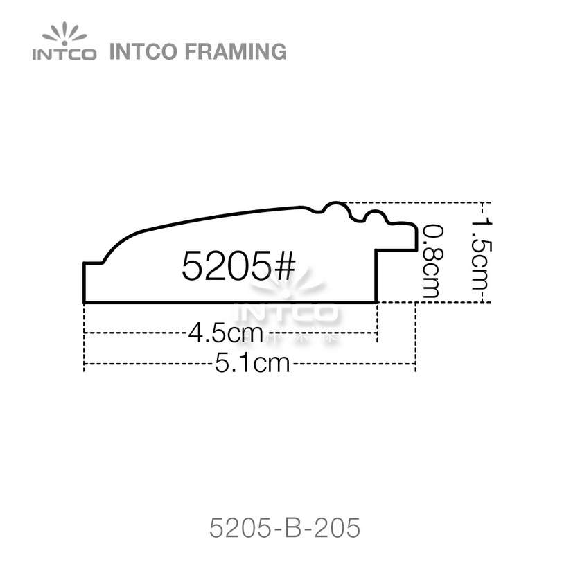 5205 series PS picture frame moulding profile