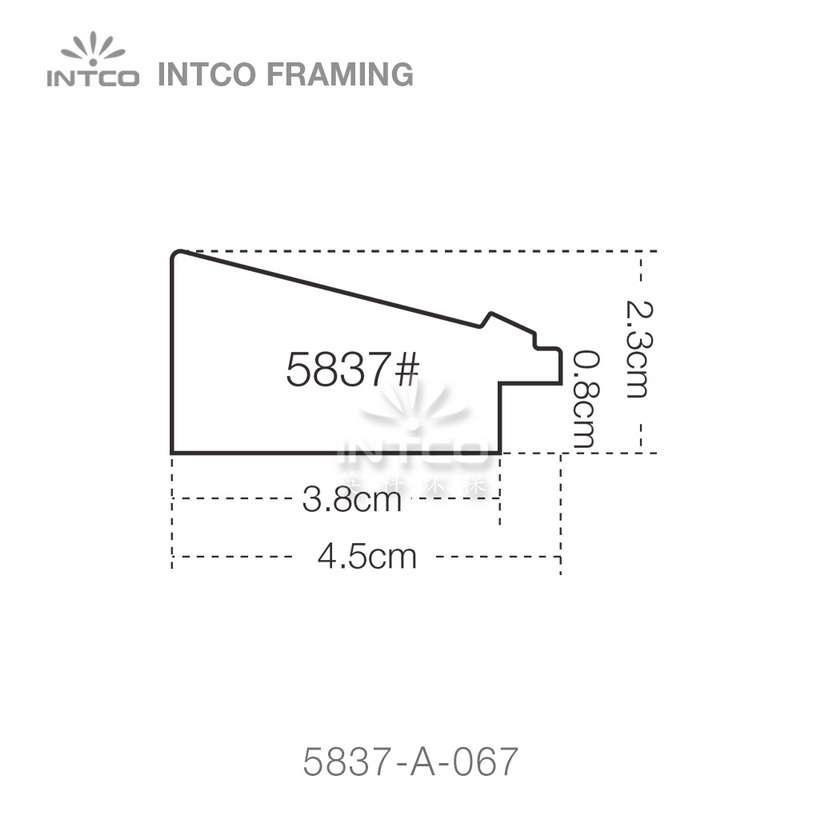5837 series PS picture frame moulding profile
