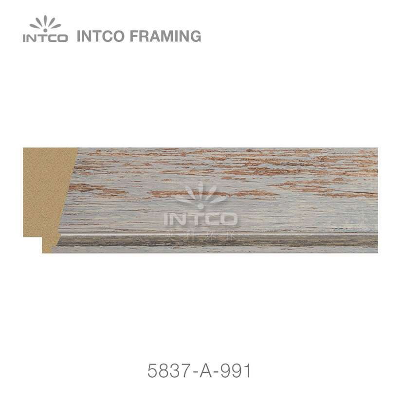 5837-A-991 polystyrene picture frame moulding swatch sample