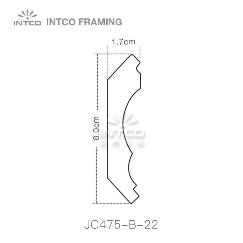 INTCO JC475-B-22 crown moulding profile