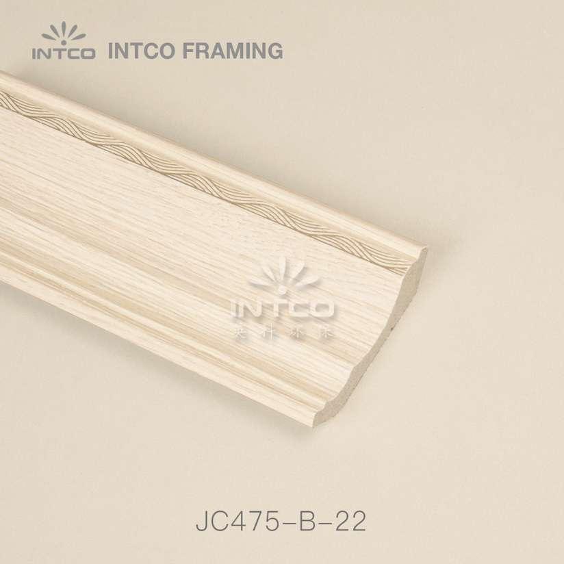 INTCO JC475-B-22 crown moulding light wood