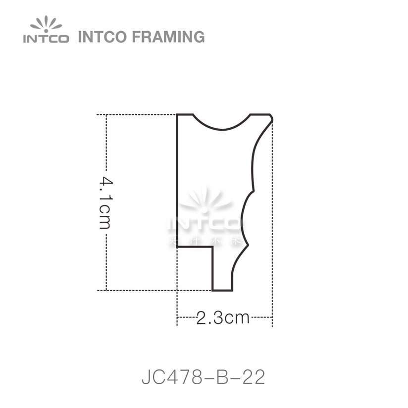 INTCO JC478-B-22 edging moulding profile