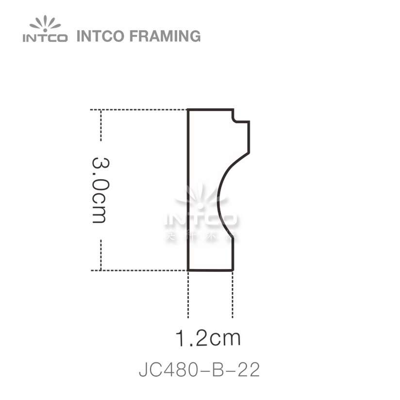 INTCO JC480-B-22 edging moulding profile