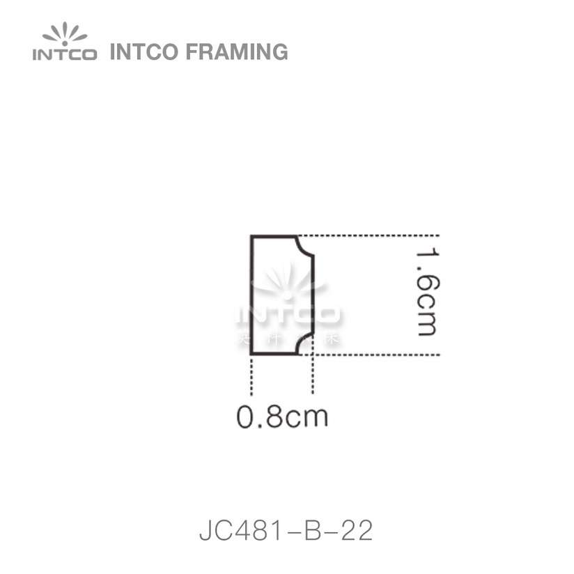 INTCO JC481-B-22 edging moulding profile