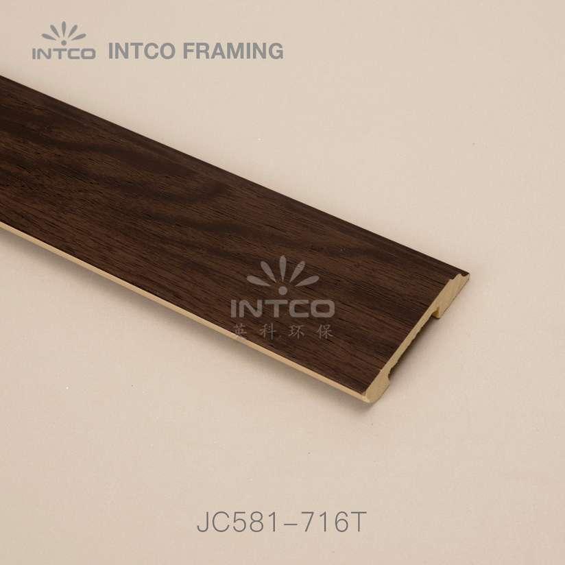 JC581-716T PS baseboard moulding wood finish