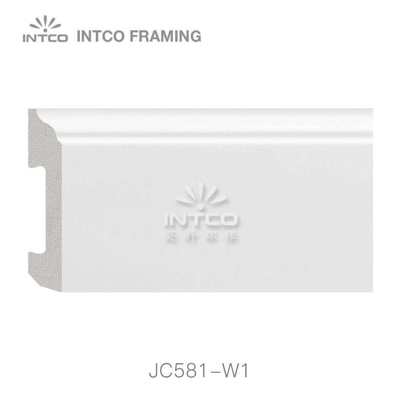 JC581-W1 PS baseboard moulding swatch sample
