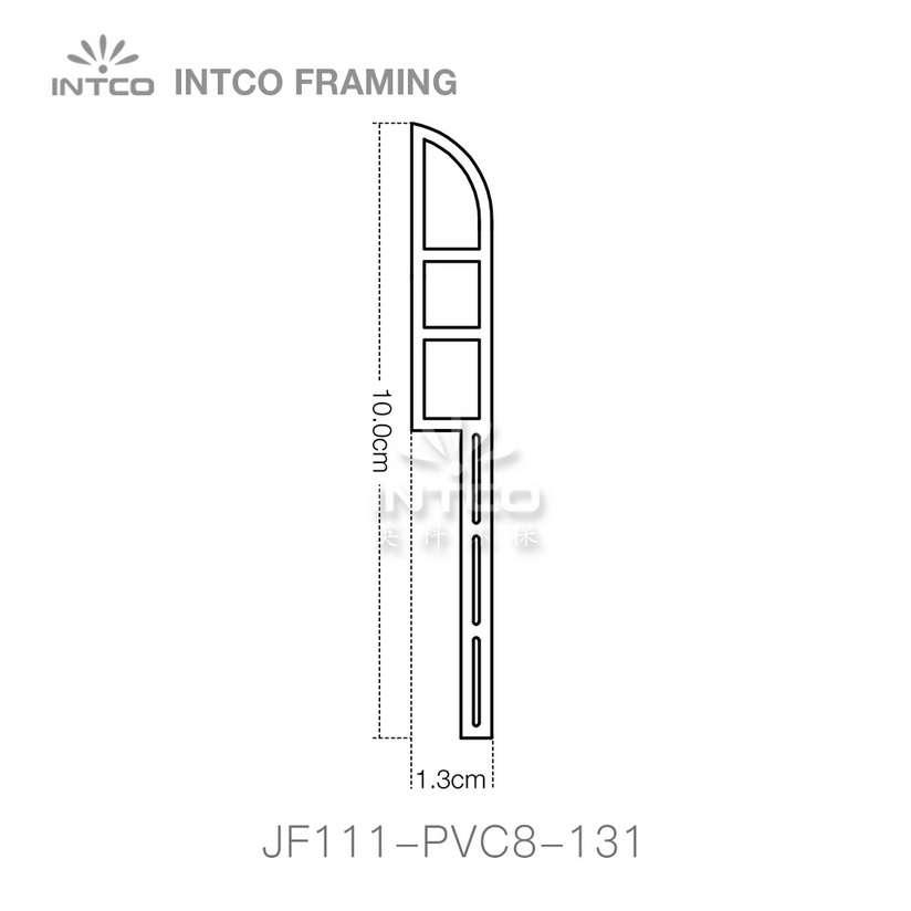 INTCO JF111-PVC8-131 PVC baseboard moulding profile