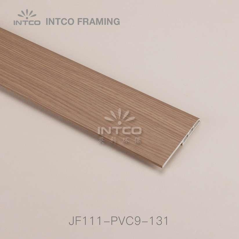 INTCO JF111-PVC9-131 PVC baseboard moulding dark wood grain