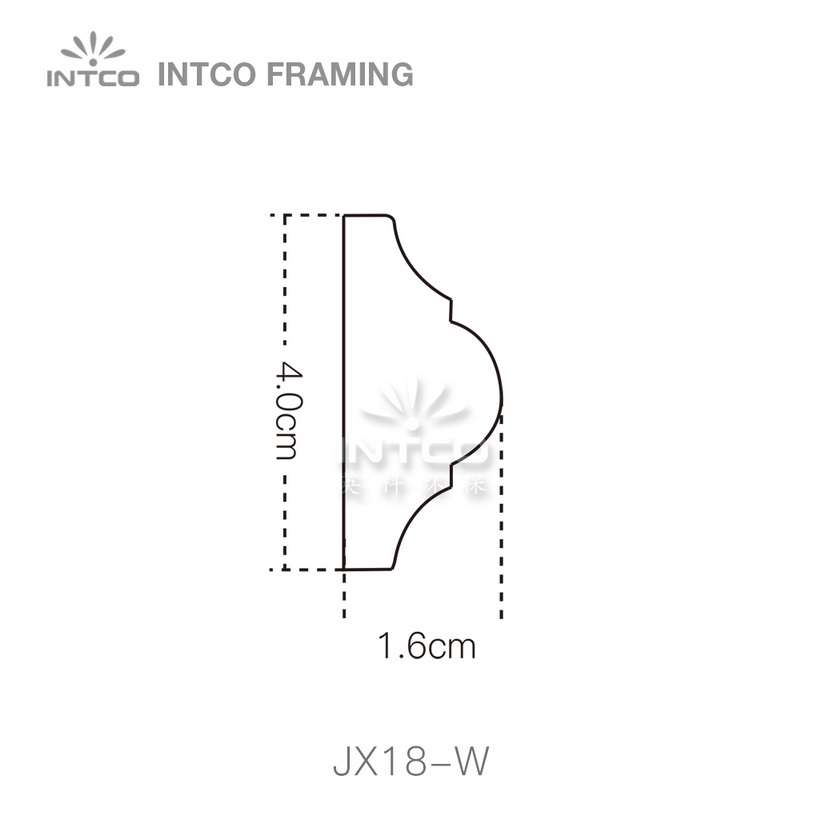 INTCO JX18-W edging moulding profile
