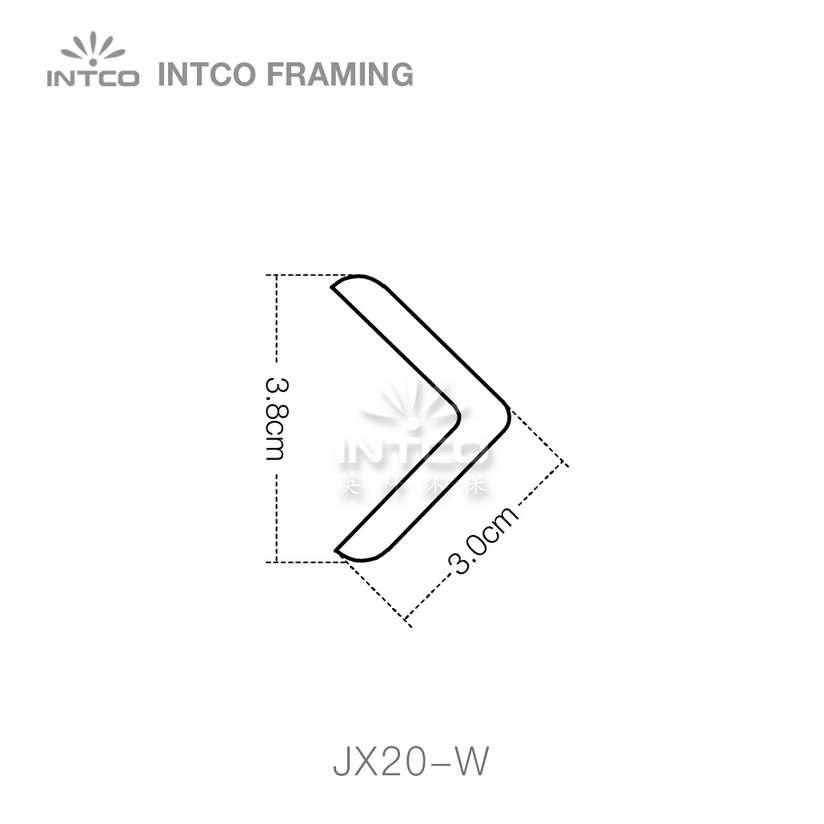 INTCO JX17-W corner moulding profile