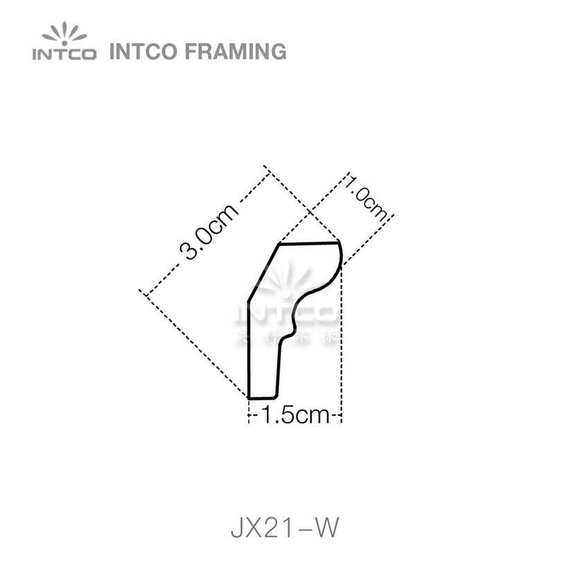 INTCO JX21-W crown moulding profile